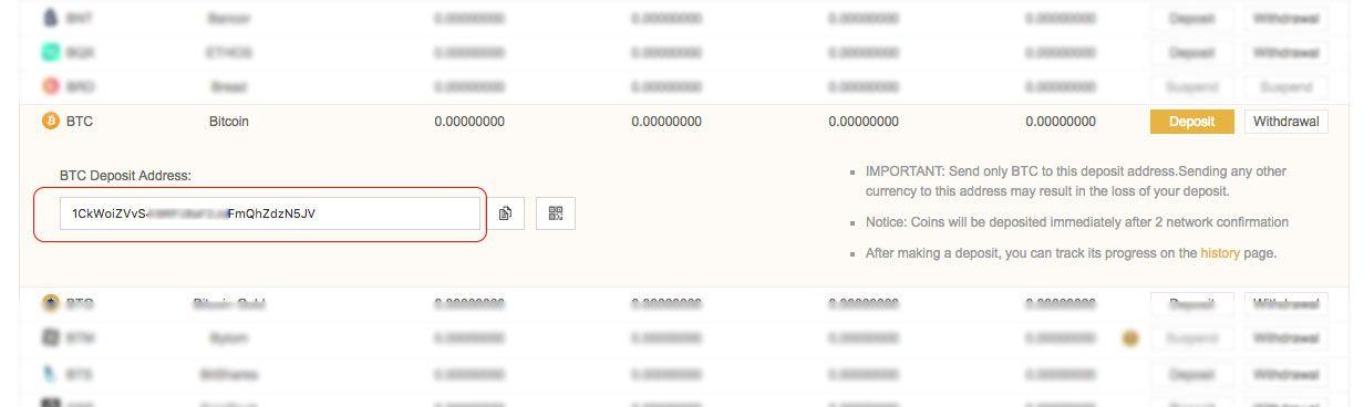 Binance Bitcoin Deposit 2